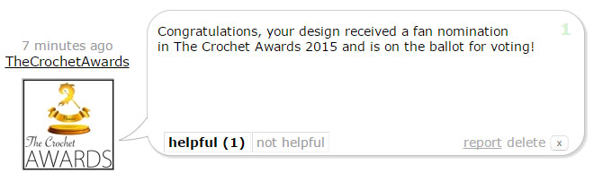 The Crochet Awards Comments